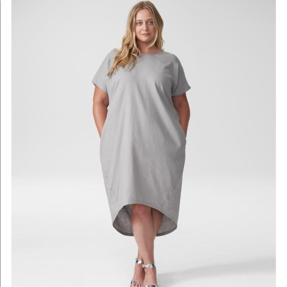 Universal Standard Dresses & Skirts - ISO 😍 Gray Universal Standard Linen Shift Dress